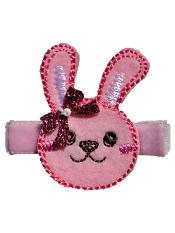 No Slippy Hair Clippy Winnie Bunny Pink