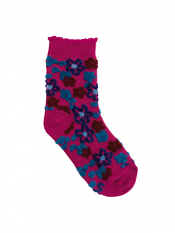 Country Kids Fuzzy Flower Sock Mulberry