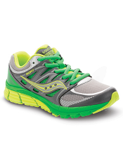 Saucony Boys Zealot Grey/Green/Citron (Kids/Youth) (Wide)