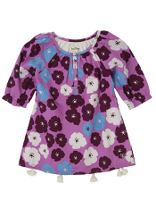 Hatley Tasseled Tunic Big Poppies