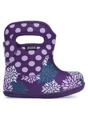Baby Bogs Waterproof Boots Classic Pompon Dots Grape Multi