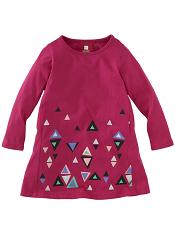 Tea Collection Dreiecke Graphic Dress Pink Ruby
