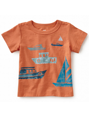 Tea Collection Boats on the Water Graphic Tee (Baby Boys)