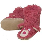 Hatley Slouch Slippers Pink Bear