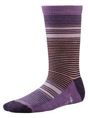 SmartWool Girls Thinscape Stripe Desert Purple Heather