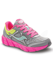 Saucony Girls Kotaro 2 Grey/Multi (Kids/Youth)