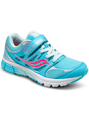 Saucony Girls Zealot A/C Turquoise/Silver/Vizi Coral