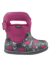 Baby Bogs Waterproof Boots Classic Animals Pink
