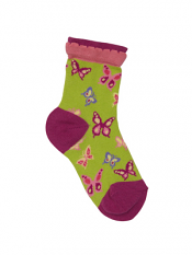 Country Kids Chasing Butterflies Sock Pear