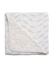 Bebe au Lait Muslin Snuggle Blanket Wildflower + Halo