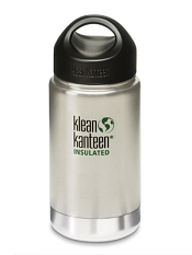 Klean Kanteen 12oz Wide Insulated Brushed Stainless