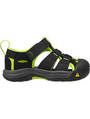 KEEN Newport H2 Black/ Lime Green (Toddler)