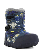 Baby Bogs Waterproof Boots B-Moc Puff Owls Navy Multi