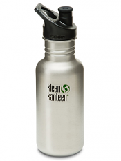 Klean Kanteen 18oz Sport Cap Brushed Stainless