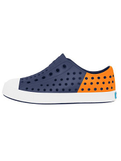 Native Jefferson Block Regatta Blue/Begonia Orange (Youth)