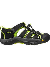 KEEN Newport H2 Black/ Lime Green Kids/Youth