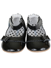Robeez Mini Shoez Catherine Black New Sole
