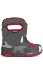 Baby Bogs Waterproof Boots Classic Polar Bears Dark Gray Multi