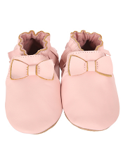 Robeez Premium Leather Maggie Moccasin Pink (Soft Soles)