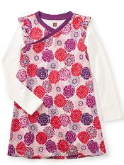 Tea Collection Nara Wrap Neck Dress (Girls)