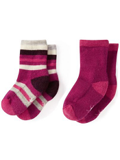 SmartWool Baby Sock Sampler Berry Stripe
