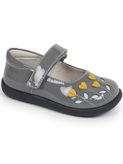 See Kai Run Tricia Gray Patent/Yellow