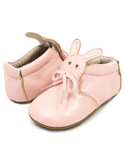 Livie & Luca Pipkin Bootie Light Pink Shimmer (Baby Soft Sole)