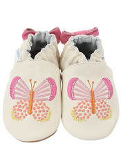Robeez Butterfly Kisses Cream (Soft Soles)