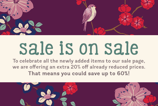 Take an extra 20% off all SALE items with code 20LUV